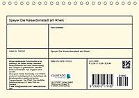 Speyer Die Kaiserdomstadt am Rhein (Tischkalender 2019 DIN A5 quer) - Produktdetailbild 13