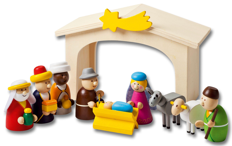 Kinder Weihnachtskrippe.Spielkrippe Aus Holz 11 Teilig Jetzt Bei Weltbild De Bestellen
