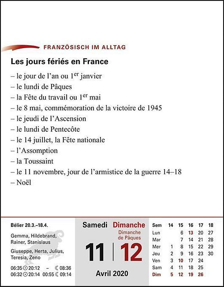 Sprachkalender Franzosisch 2020 Kalender Bei Weltbild De