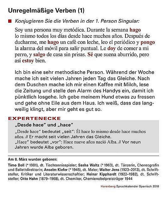 Sprachkalender Spanisch 2018 Kalender Bei Weltbildde Bestellen