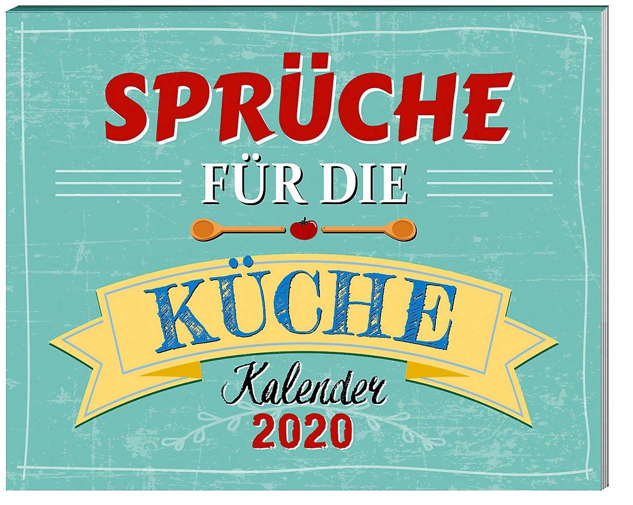 Sprüche für die Küche Kalender 2020 mit 2 Blechschildern ...