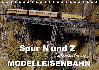 Spur N und Z international, Modelleisenbahn (Tischkalender 2019 DIN A5 quer), Klaus-Peter Huschka