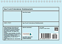 Spur N und Z international, Modelleisenbahn (Tischkalender 2019 DIN A5 quer) - Produktdetailbild 13