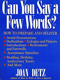 How to write and give a speech joan detz review