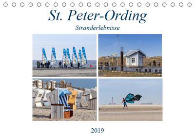 St. Peter-Ording Stranderlebnisse (Tischkalender 2019 DIN A5 quer), Manuela Falke