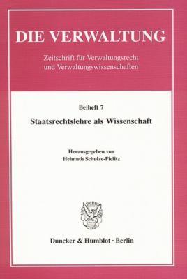 Staatsrechtslehre als Wissenschaft.