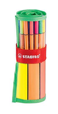 STABILO® point 88® Fineliner, 30er Rollerset, 25+5 Neonfarben - Produktdetailbild 1
