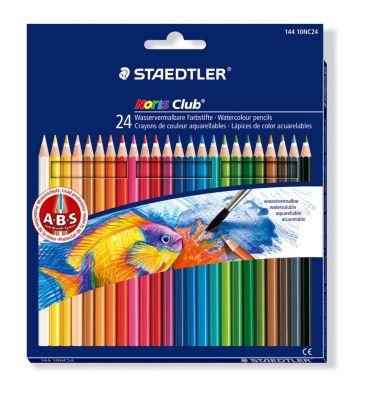 Staedtler Noris Club aquarell Farbstifte mit 24 Farben, inkl. Pinsel