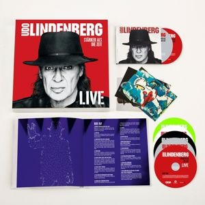 Stärker als die Zeit - Live (Super Deluxe Box, 4 CDs + 2 Blu-rays + 1 DVD), Udo Lindenberg