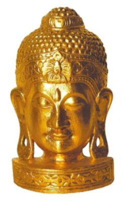 Standbüste Buddha vergoldet