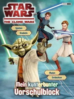 Star Wars The Clone Wars - Mein kunterbunter Vorschulblock