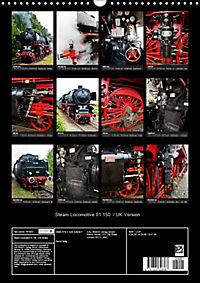 Steam Locomotive 01 150 / UK-Version (Wall Calendar 2019 DIN A3 Portrait) - Produktdetailbild 13