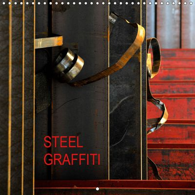 STEEL GRAFFITI (Wall Calendar 2019 300 × 300 mm Square), Uzzi Bach