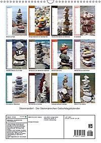Steinmanderl - Der Steinmännchen Geburtstagskalender (Wandkalender 2019 DIN A3 hoch) - Produktdetailbild 13