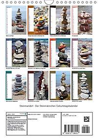 Steinmanderl - Der Steinmännchen Geburtstagskalender (Wandkalender 2019 DIN A4 hoch) - Produktdetailbild 13
