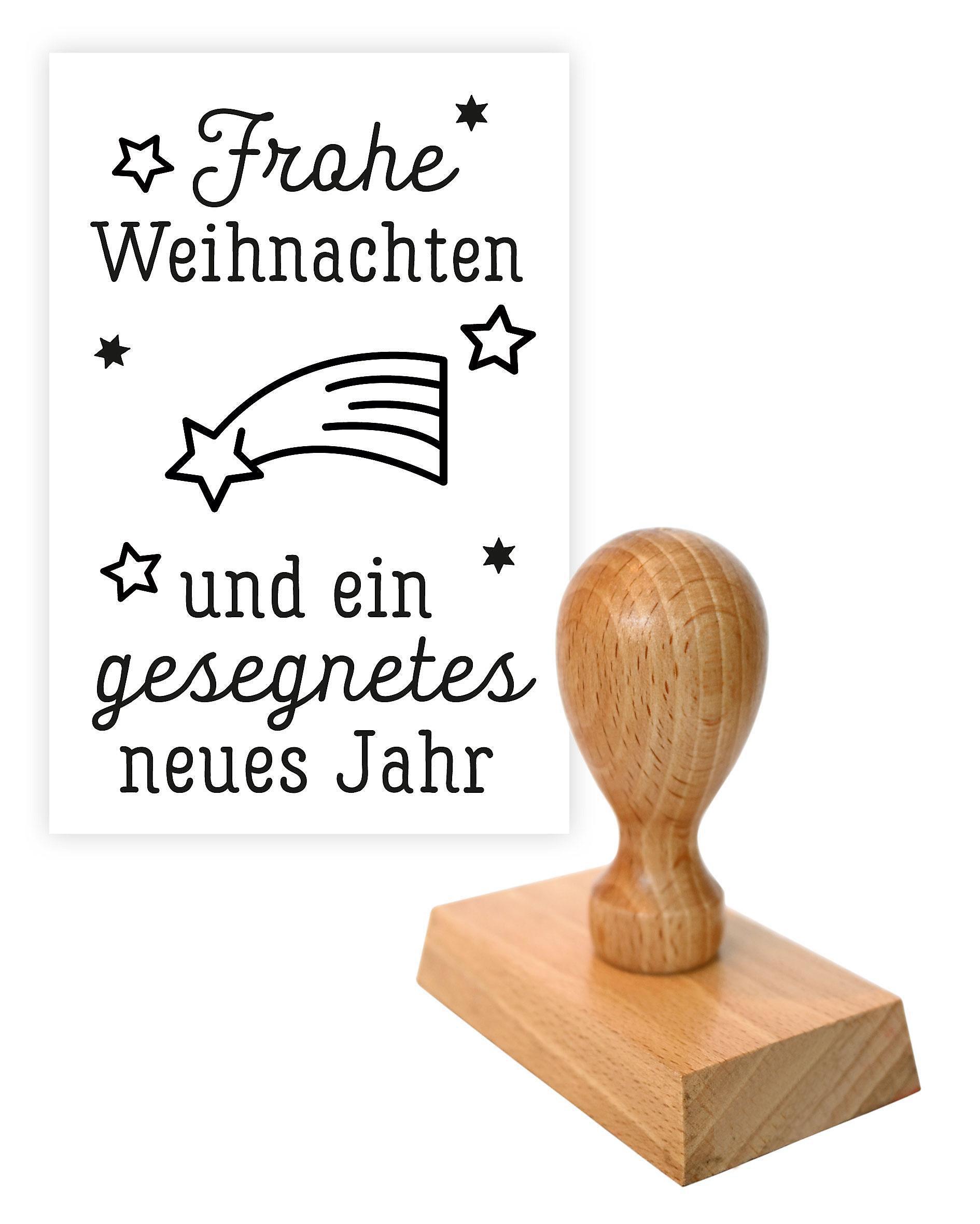 Stempel Frohe Weihnachten und ein gesegnetes neues Jahr   Weltbild.ch