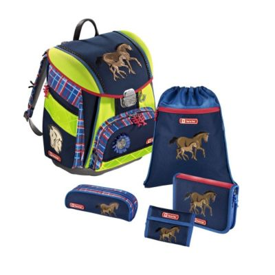 Step by Step TOUCH DIN Schulranzen Set Horse Family, 5-teilig