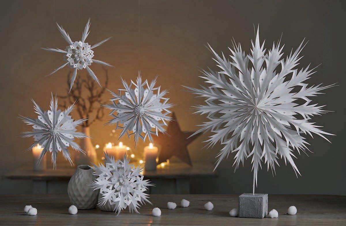 sterne schneekristalle aus papiert ten buch. Black Bedroom Furniture Sets. Home Design Ideas