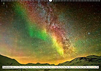 Sternenhimmel im magischen Licht - Polarlicht und Milchstraße (Wandkalender 2019 DIN A2 quer) - Produktdetailbild 9