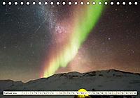 Sternenhimmel im magischen Licht - Polarlicht und Milchstraße (Tischkalender 2019 DIN A5 quer) - Produktdetailbild 2