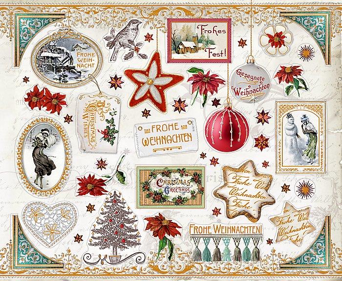 Weihnachtsgrüße Enkelkind.Stickerbuch Zauberhafte Weihnachtsgrüße Bestellen Weltbild At