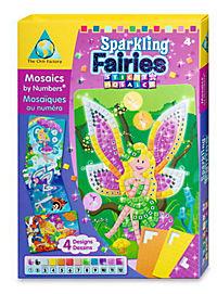 Sticky Mosaics - Mosaik nach Zahlen, Bastelset, 4er Set (Motive: Elfen) - Produktdetailbild 1