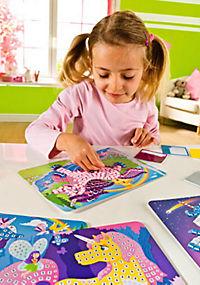 Sticky Mosaics - Mosaik nach Zahlen, Bastelset, 4er Set (Motive: Einhörner) - Produktdetailbild 6