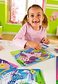 Sticky Mosaics - Mosaik nach Zahlen, Bastelset, 4er Set (Motive: Einhörner) - Produktdetailbild 5