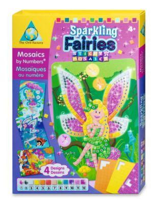 Sticky Mosaics - Mosaik nach Zahlen, Bastelset, 4er Set (Motive: Elfen)