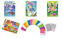Sticky Mosaics - Mosaik nach Zahlen, Bastelset, 4er Set (Motive: Elfen) - Produktdetailbild 2