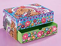 "Sticky Mosaics Schmuckkasten ""Pferde"", Bastelset - Produktdetailbild 3"