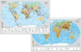 Stiefel Staaten der Erde; Stiefel Die Erde physisch, Schreibunterlage