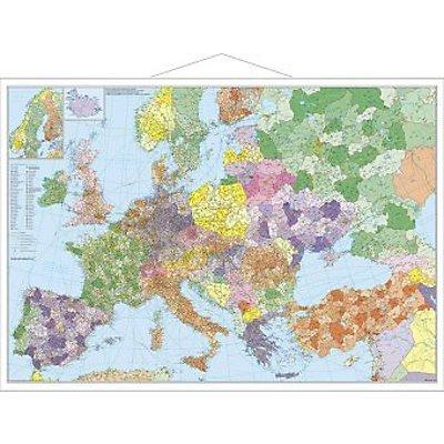 stiefel wandkarte gro format europa mit t rkei stra en. Black Bedroom Furniture Sets. Home Design Ideas