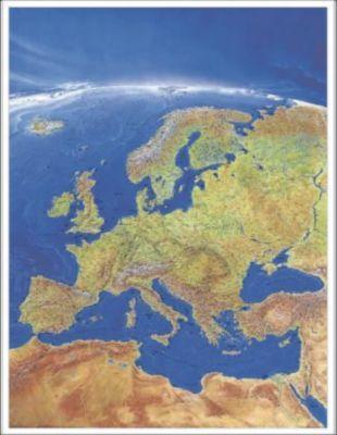 Stiefel Wandkarte Großformat Europa, Panorama, ohne Metallstäbe