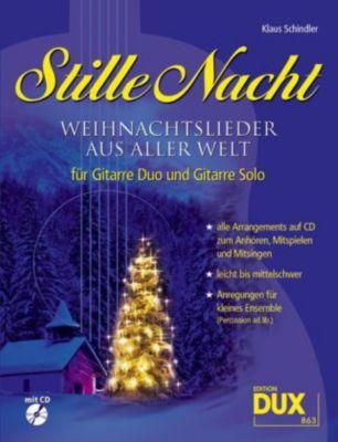 Stille Nacht, für 1 und 2 Gitarren, m. Audio-CD, Klaus Schindler