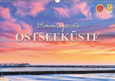 Stimmungsvolle Ostseeküste 2019 (Wandkalender 2019 DIN A3 quer), Daniela Beyer (Moqui)