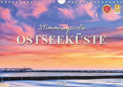 Stimmungsvolle Ostseeküste 2019 (Wandkalender 2019 DIN A4 quer), Daniela Beyer (Moqui)