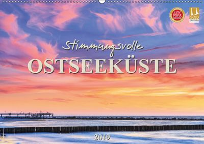 Stimmungsvolle Ostseeküste 2019 (Wandkalender 2019 DIN A2 quer), Daniela Beyer (Moqui)