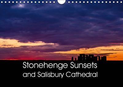 Stonehenge Sunsets & Salisbury Cathedral (Wall Calendar 2019 DIN A4 Landscape), Mark Cooper