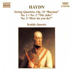 Str.Quart.Op.33/1,2+5*Naxos, Kodaly Quartet