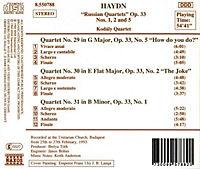Str.Quart.Op.33/1,2+5*Naxos - Produktdetailbild 1