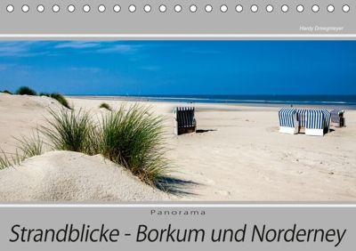 Strandblicke Borkum und Norderney (Tischkalender 2019 DIN A5 quer), Hardy Dreegmeyer