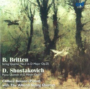 Streichquartett 1/Klavierquintett, Clifford Benson, The Alberni String Quartet