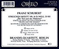 """Streichquartett D-Moll D 810 """"Der Tod U.D.Mädchen"""" - Produktdetailbild 1"""