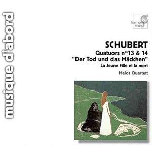 Streichquartett Nr. 13 D 804 a-moll Rosamunde / Nr. 14 D 810 d-moll Der Tod und das Mädchen, Melos Quartett