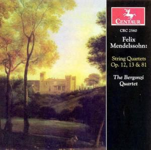 Streichquartette Op.12,13,81, Bergonzi Quartet
