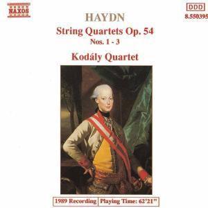 Streichquartette Op.54,1-3, Kodaly Quartet