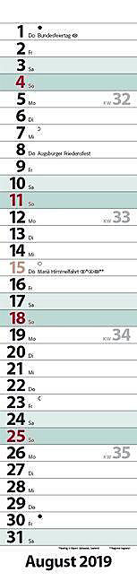 Streifenplaner Compact Türkis 2019 - Produktdetailbild 8