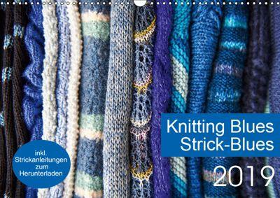 Strick-Blues (Wandkalender 2019 DIN A3 quer), Ulrike Gronert and Dagmara Berztiss