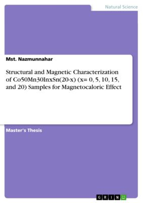 Structural and Magnetic Characterization of Co50Mn30InxSn(20-x) (x= 0, 5, 10, 15, and 20) Samples for Magnetocaloric Effect, Mst. Nazmunnahar